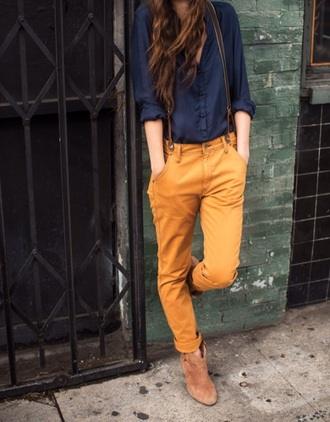 pants yellow jeans