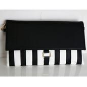 bag,black and white,stripes,satchel,clutch,amazinglace.com,amazinglace