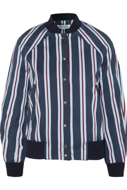 Kenzo jacket bomber jacket navy cotton