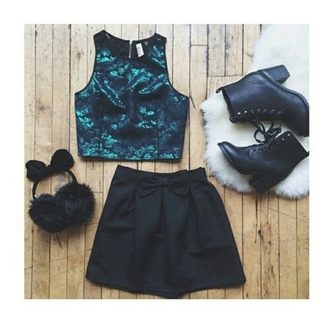 top halter top halter neck top halter tops cute top turquoise shiny skirt boots simple necklace pretty cute stylish style styled trending  now trend trendy fashion inspo outfit idea fashion popular popular fashion popular blogger popular clothes tumblr tumblr outfit casual on point clothing
