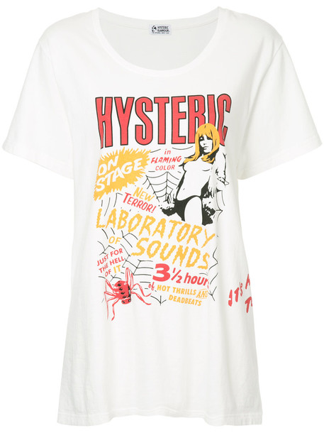 Hysteric Glamour - oversized printed T-shirt - women - Cotton - One Size, White, Cotton