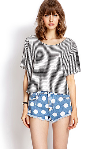 Darling Dots Denim Shorts | FOREVER 21 - 2000063377
