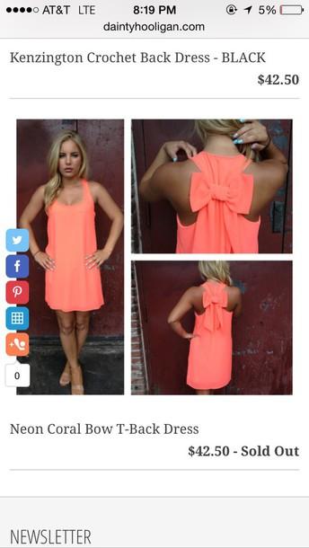 dress coral bow dress bow dress