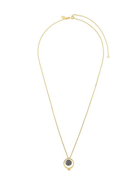 IOSSELLIANI women necklace silver grey metallic jewels