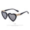 Heart shape uv400 sun glasses