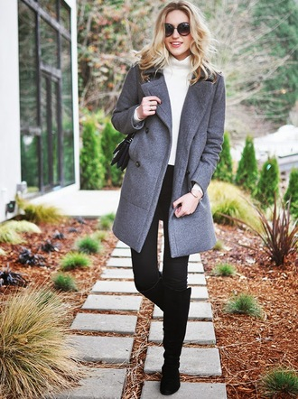 society grl blogger grey coat