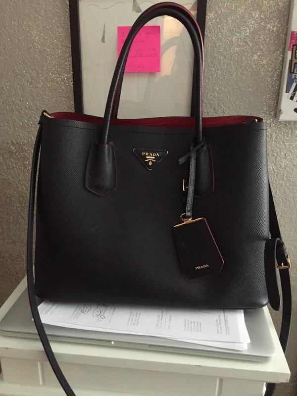Prada BN2775 Womens Saffiano Leather Tote Black