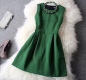 dress,fashion,elegant,elegant dress,jewels,forest green