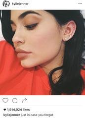 jewels,earrings,stud earrings,kylie jenner jewelry,kylie jenner