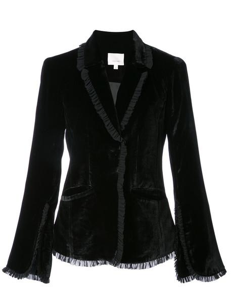 Cinq a Sept blazer women black silk jacket