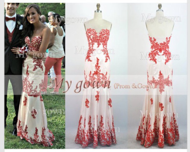 dress long red dress white dress red white prom dress prom gown long prom dress long dress