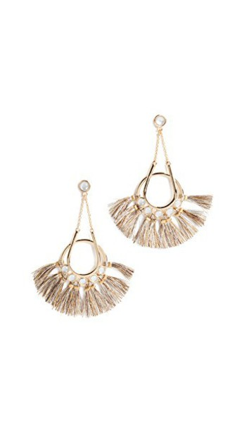 Rebecca Minkoff tassel earrings metallic gold jewels