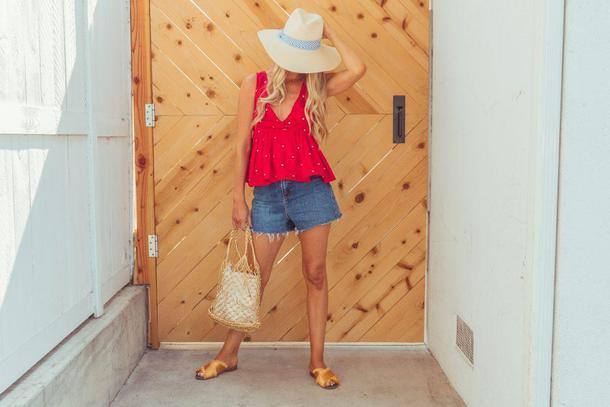 ashn'fashn blogger hat top shorts bag shoes