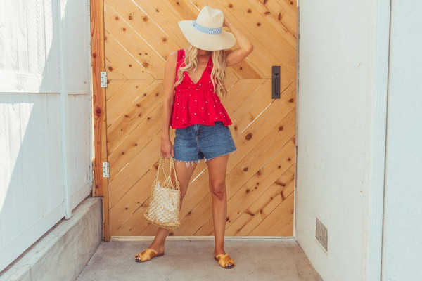 ashn'fashn blogger hat top shorts bag shoes