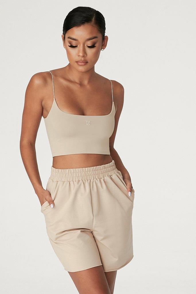 Paloma Long Shorts - Almond