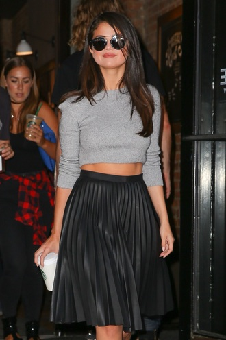 skirt selena gomez black