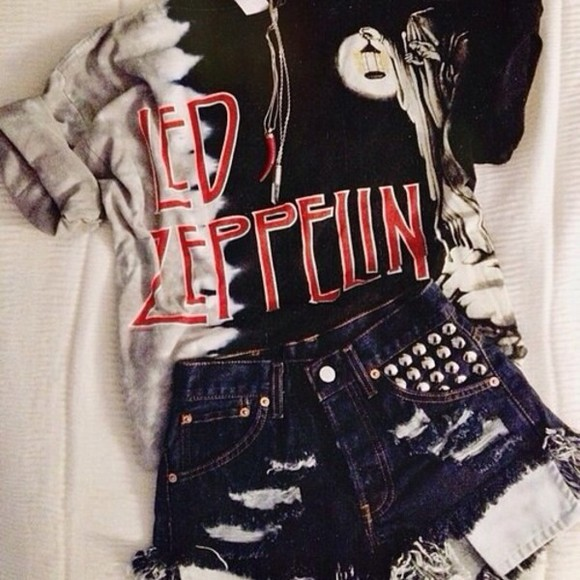 t-shirt led zeppelin merch