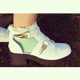 shoes river island boots cut out ankle boots white socks