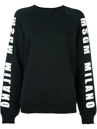 sweatshirt print black sweater