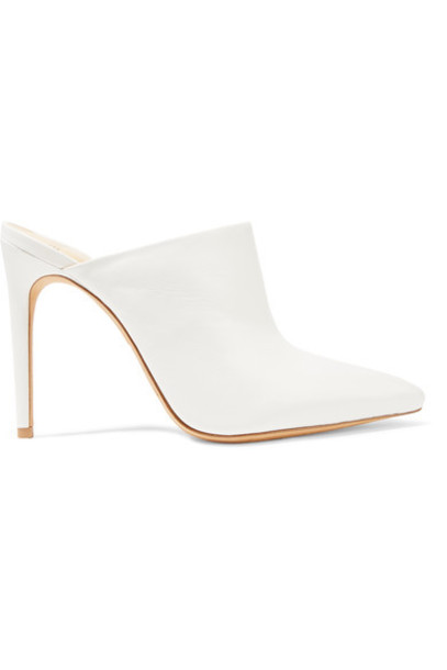 Alexandre Birman mules leather white shoes