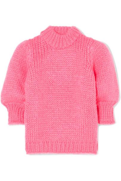 GANNI - Julliard Mohair And Wool-blend Sweater - Pink