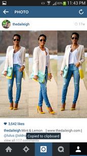 coat,cream,yellow