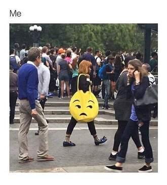 bag yellow emoji print