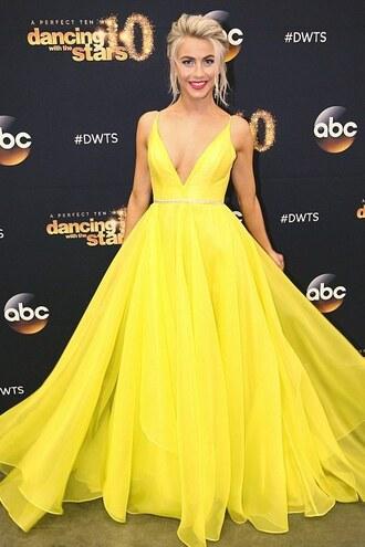 dress yellow yellow dress julianne hough gown prom dress