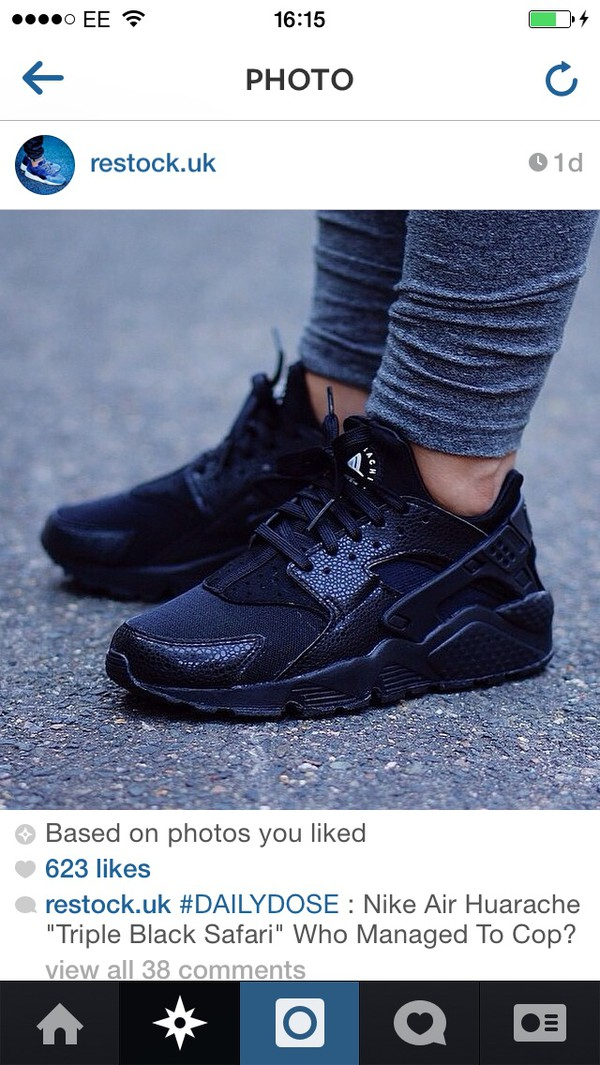 shoes nike running shoes huarache hurachi trainers nike black air max