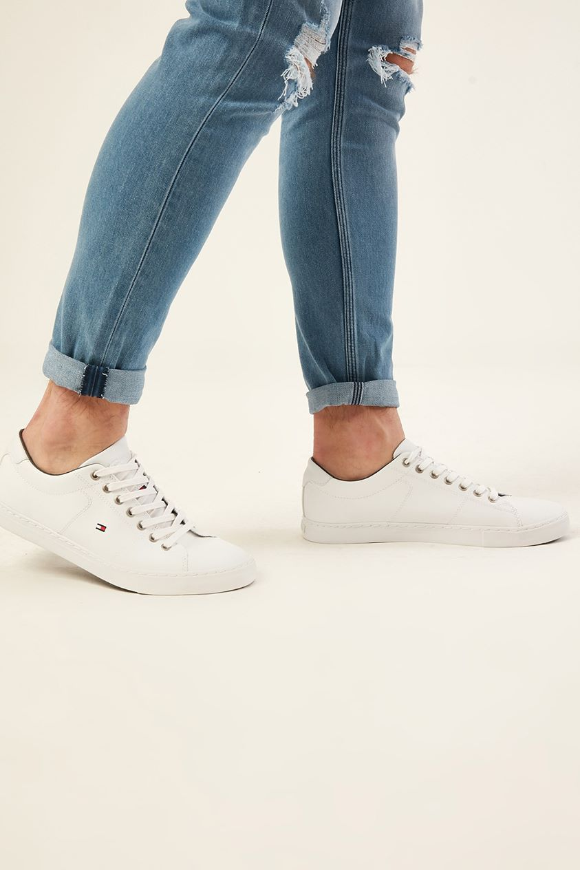 Tommy Jeans Essential Leather Sneaker White