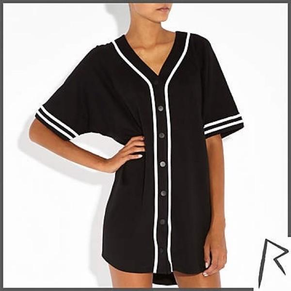 blouse rihanna rivers island baseball jersey