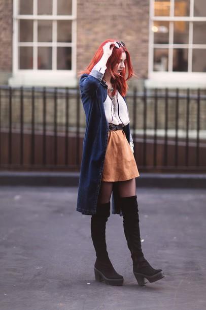 hannah louise fashion blogger skirt belt cardigan coat jacket shirt shoes sunglasses bag jewels
