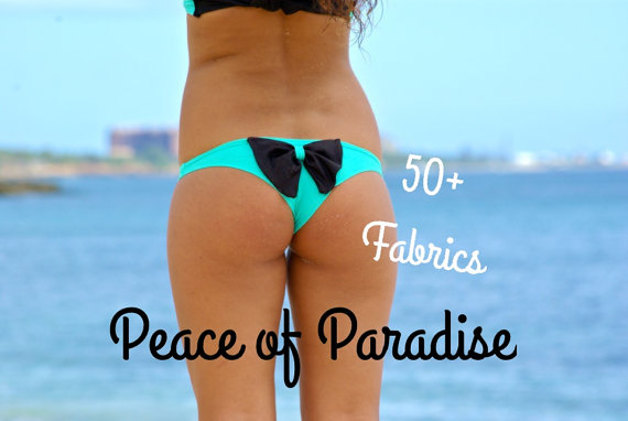 TANTALUS Cheeky Bow Brazilian Bikini Bottom  by PeaceOfParadise