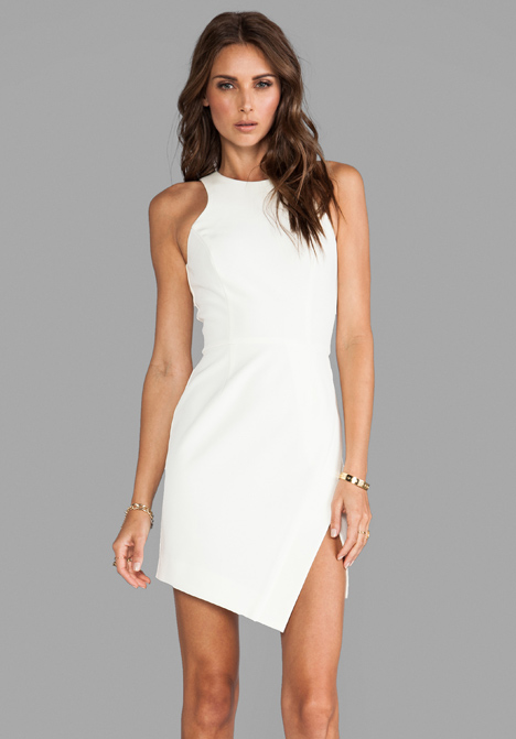 NICHOLAS Bonded Silk Wrap Skirt Dress in Milk at Revolve Clothing - Free Shipping!