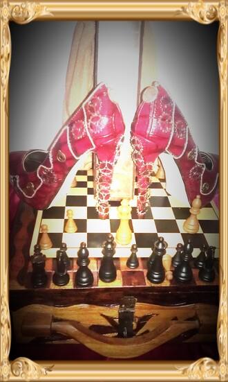 shoes heels chain retro custom steampunk high heels clock sherlock holmes funny