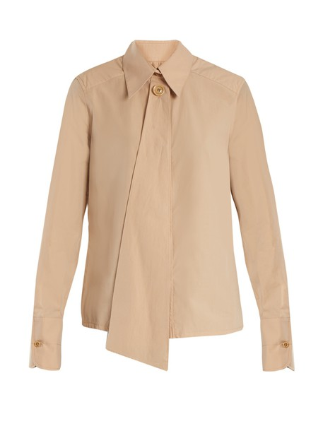 Lemaire shirt cotton beige top