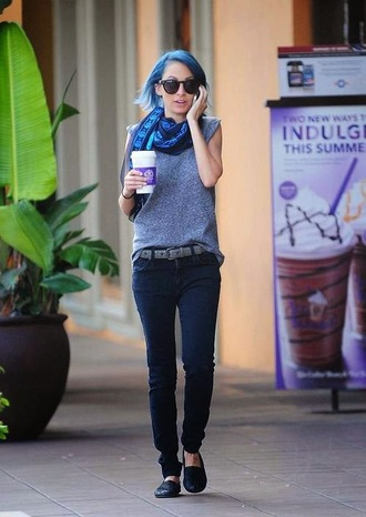 scarf nicole richie shoes jeans