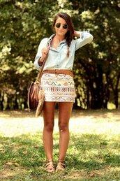 skirt,aztec