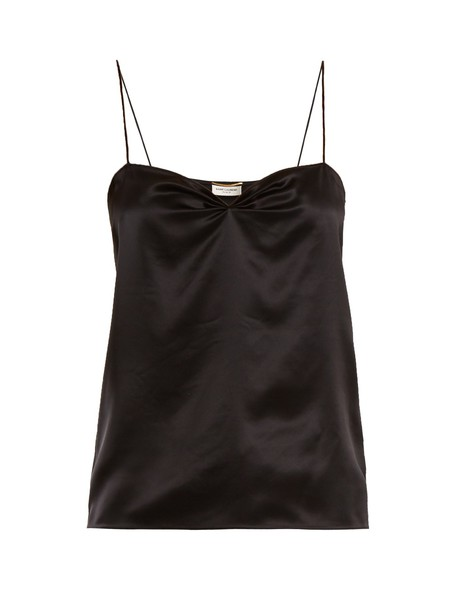 Saint Laurent top silk satin black