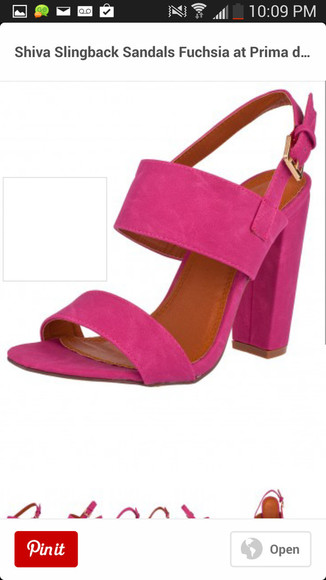 shoes heels sandal summetime fuchsia musthave high heels