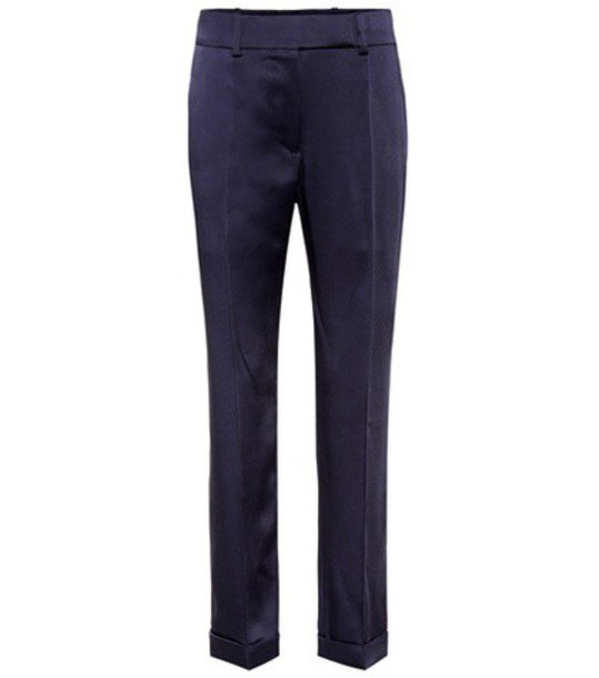 Haider Ackermann Cropped trousers in blue