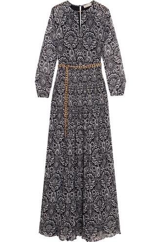 dress maxi dress maxi pleated metallic navy