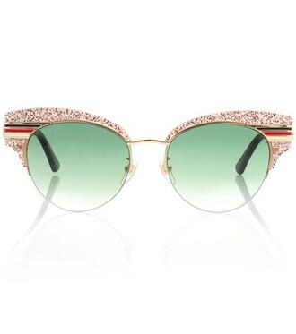 glitter sunglasses gold