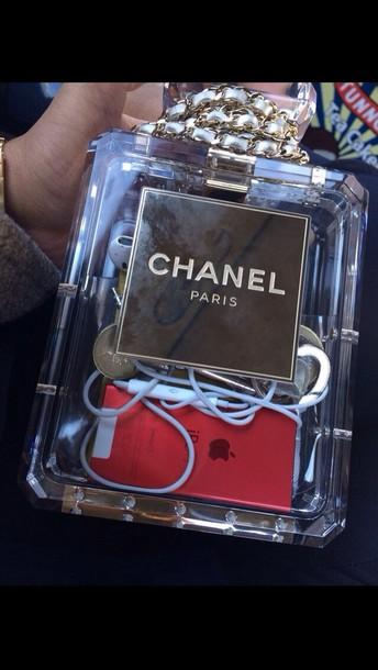 bag transparent  bag perfume shaped fashion