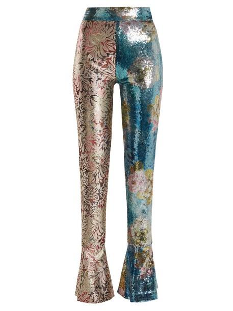 HALPERN high embellished blue pants