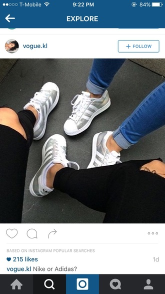 shoes adidas shoes adidas superstars silver