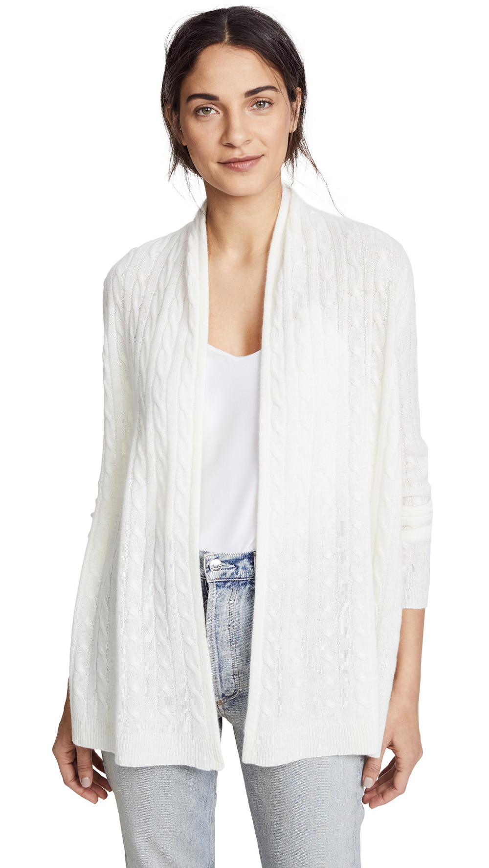 White + Warren White + Warren Cable Cardigan