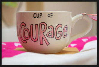 jewels cup mug courage pink new years resolution