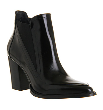 Office Mercy Chelsea Black Box Leather - Ankle Boots