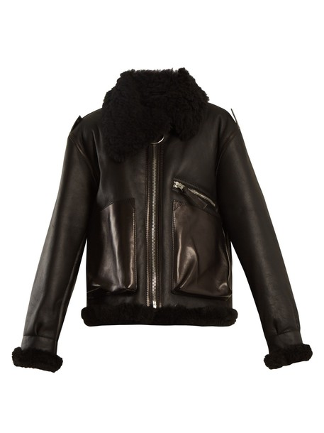 Acne Studios jacket shearling jacket black